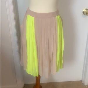 Worthington Pleated Sheer Skirt Size 8